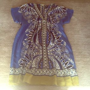 Banana Republic Silk Patterned Dress. Medium